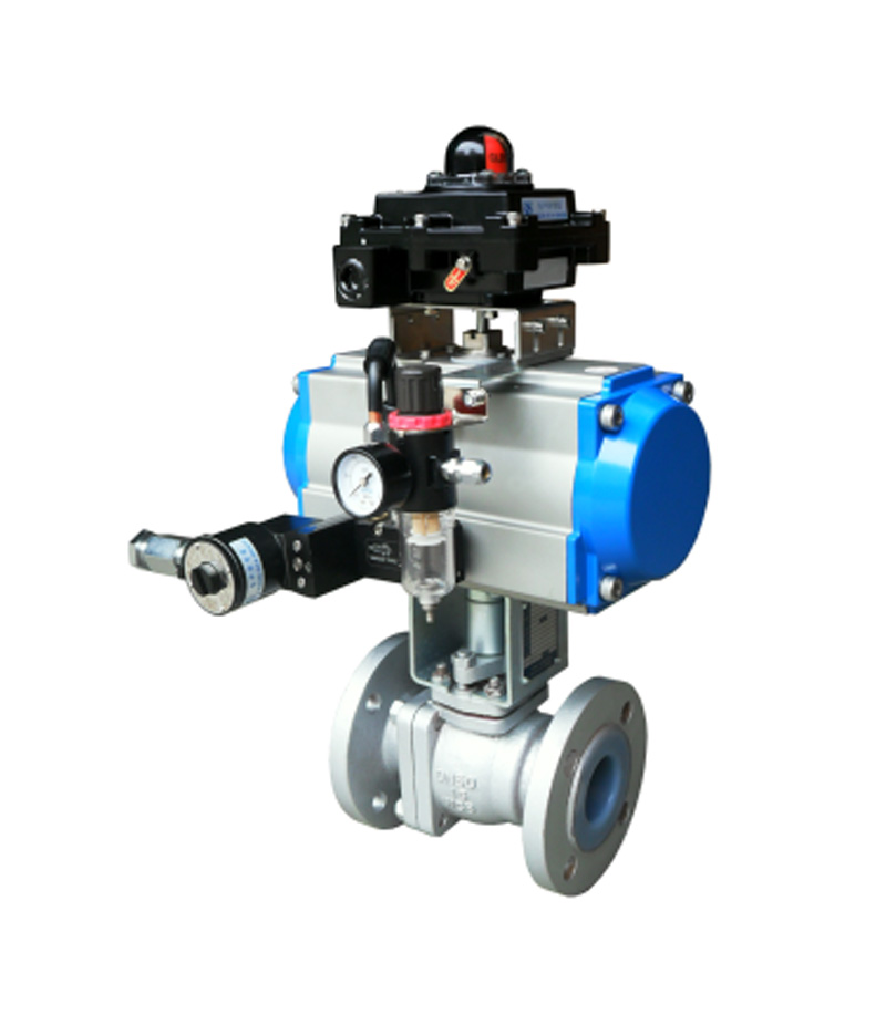 SN2401F Plastic Lined O-type Ball Valve