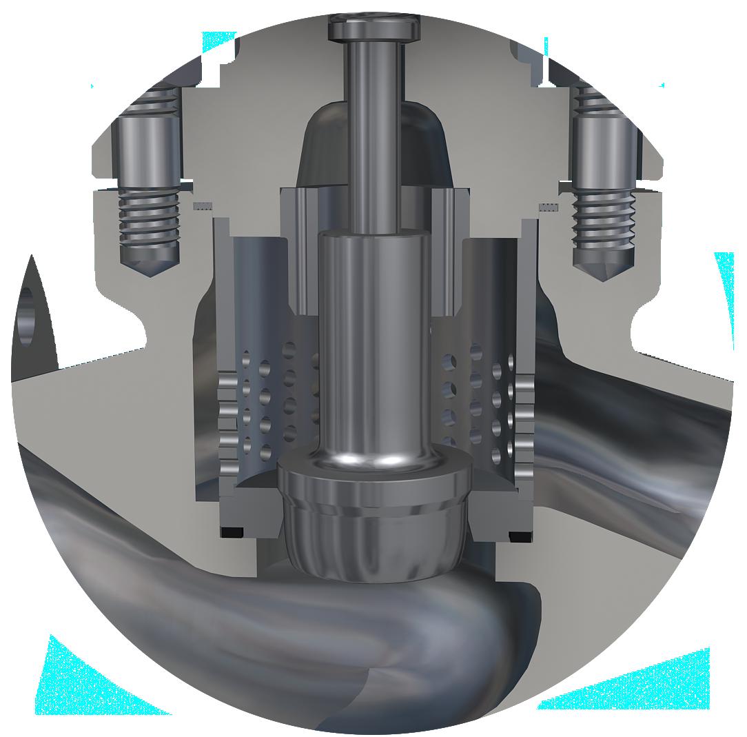 single seat globe pressure control valve
