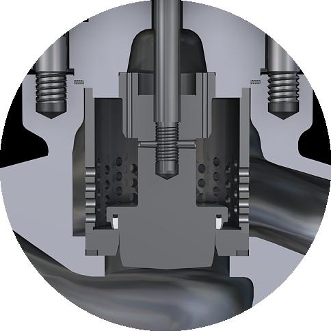 single seated regulating valve